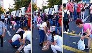 Ekrem İmamoğlu'nun Saraçhane'de Vatandaşlarla Buluşmasının Ardından Alanı Temizlemek İçin Kollarını Sıvayan İnsanlar!