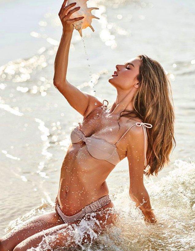 38 yaşındaki Victoria's Secret Meleği  Brezilyalı Alessandra Ambrosio, her post başına aldığı yaklaşık 150.000 beğeni ile ikinci sıraya yerleşti.