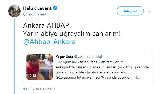 O babaya yardım eli Haluk Levent'ten AHBAP'tan geldi!