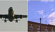 Uçağa Kaçak Yollarla Binmişti: Evinin Bahçesinde Güneşlenen Adamın Bir Metre Yanına Düştü
