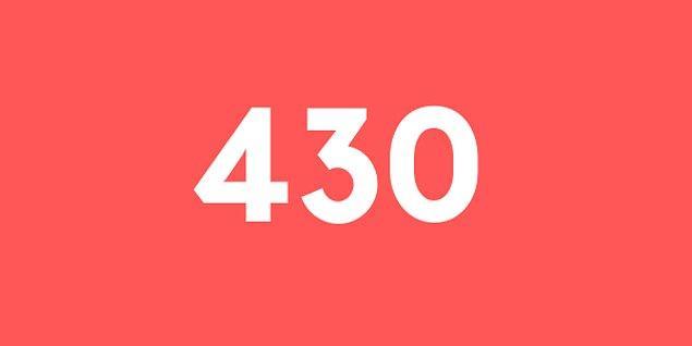 Üniversite sınav sonucun 430 puan!