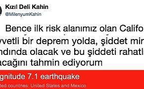 Yaptığı Kehanetlerle Amerika'daki Depremi Bilen Gizemli Twitter Hesabı