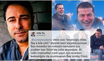 """""""Ekrem İmamoğlu, Atilla Taş'a Bile Çıktı"""" Diyen Cüneyt Özdemir'e Atilla Taş'tan Zehir Zemberek Tepki Geldi, Ortalık Karıştı!"""