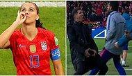 Başarılı Kadın Futbolcu Alex Morgan Çay İçme Hareketi ile Yaptığı Gol Sevincine Karşı Yapılan Eleştirilere Tepki Gösterdi