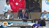 Adana Büyükşehir Belediye Başkanı Zeydan Karalar: 'Evet Değerli Meclis Üyeleri... Niye Ters Ters Bakıyon Hayrola?'