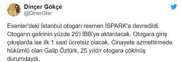 Gazeteci Dinçer Gökçe de otoparka ilişkin şu bilgileri aktardı: