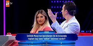 Güven Bana Yarışmasına Damga Vuran 'İstiklal Marşı' Sorusu!