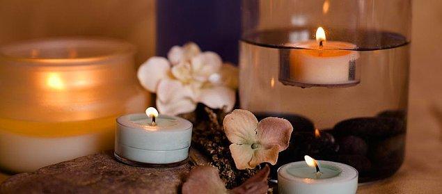7. Aroma terapi mumu yakın.