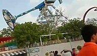 Hindistan'da Eğlence Parkında Meydana Gelen Dehşet Kaza Anı Kameralara Yansıdı!