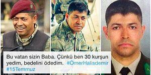 15 Temmuz Gecesi Bir Kahramanlık Destanı Yazarak Şehit Düşen Ömer Halisdemir Sosyal Medyada Anılıyor