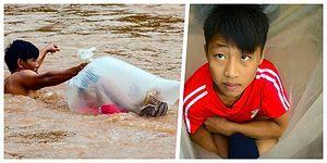 Eğitim İçin Hayatınızı Riske Atar mıydınız? Vietnam'daki Bu Köyde Çocuklar Okula Gitmek İçin Nehirleri Poşetler İçinde Geçiyorlar!