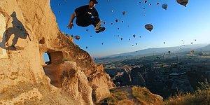 Parkur Alanına Çevirdikleri Kapadokya'nın Altını Üstüne Getiren Gençler