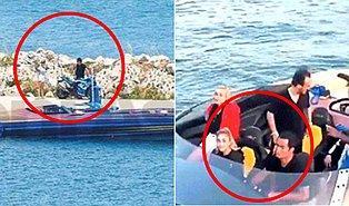 Çeşme'de Sürat Teknesiyle Denize Açılan Acun Ilıcalı 20 Yaşındaki Sevgilisiyle Görüntülendi!
