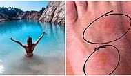 """""""Like"""" Çılgınlığı Sınır Tanımıyor! İnsanlar İspanya'daki Toksik Gölde Fotoğraf Çektirmek İçin Sağlıklarını Riske Atıyor"""