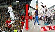 Ronaldo Kadar Yükseğe Zıplayıp Topa Kafa Atabilenin 1000 Sterlin Kazandığı Yarışma