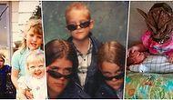 Kardeş Olmanın Tuhaflığını Sere Serpe Gösteren Birbirinde Saykodelik Aile Fotoğrafları