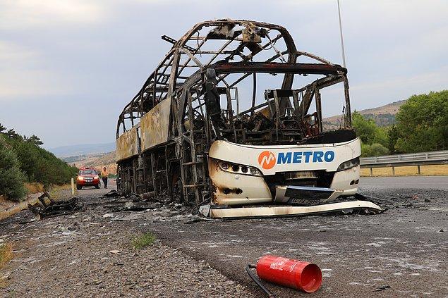 İhbar üzerine olay yerine Ankara ve Gerede itfaiye ekipleri sevk edildi. Otobüs yaklaşık 1 saatlik çalışmayla söndürüldü.