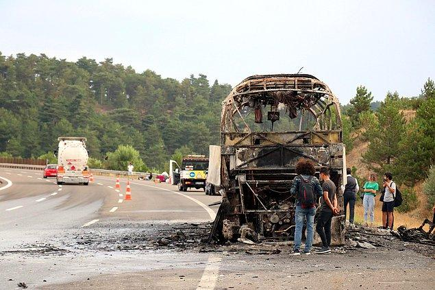 Ölen ya da yaralananın olmadığı yangında otobüs kullanılamaz hale geldi.