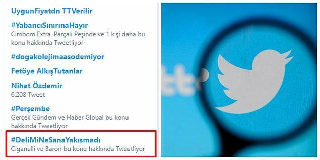 Sosyal medyadan #DeliMiNeSanaYakısmadı tepkisi