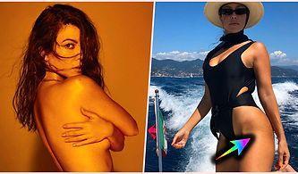 Instagram'da Çatlaklarının Olduğu Bir Fotoğrafı Korkusuzca Paylaşan Kourtney Kardashian Herkesi Kendine Hayran Bıraktı