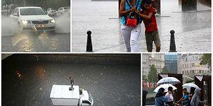 İstanbul Sular Altında: Araçlar Yollarda Kaldı, Tramvay ve Vapur Seferleri İptal