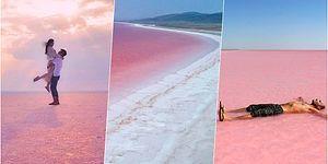 İç Anadolu'nun Orta Yerinde Bu Nasıl Bi' Güzellik? Pembe Renge Bürünen Tuz Gölü Resmen Büyüledi