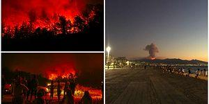 Dağlarında Çiçekler Açardı: Orman Yangını İçin Sosyal Medyadan #izmiryanıyor Paylaşımları