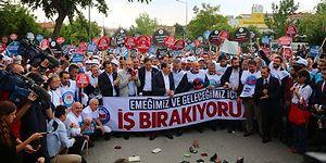 Memur-Sen'den İş Bırakma Eylemi: Bakanlığın Önüne 'Boş Cüzdan' Bırakıldı