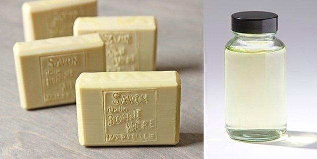 Saf zeytinyağı ve sabun bazıyla yapılan günevenilir bir temizleyici.