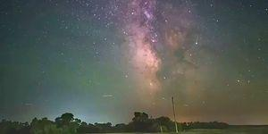 Samanyolu'na Sabitlenmiş Kamera ile Dünya'nın Dönüşünün Muhteşem Görüntüsü