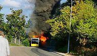 Beykoz, Anadolu Kavağı'nda Seyir Halindeki İETT Otobüsü Alev Aldı