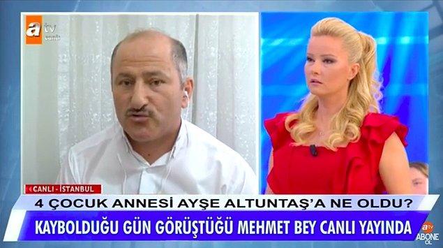 Mehmet Altuntaş'ın söylediğine göre ikili bu konuşmadan sonra ormanlık alana gitmiş ve cinsel ilişkiye girmiş. Ardından ayrı yaşadığı eşinin evinin önüne bırakmış.