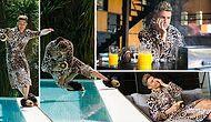 Cristiano Ronaldo Kendisiyle Dalga Geçti: Yeni Reklam Filminde Leopar Desenli Sabahlık ile Top Oynadı!