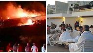 Turistler Sahile Kaçtı: Girne'de Askeri Bölgedeki Cephanelikte Patlama Meydana Geldi