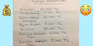 580 Bin Liralık Tutarıyla Çokça Tartışılan Evlilik Masrafları Listesi