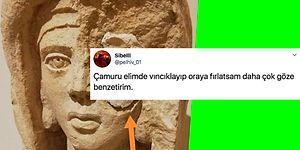 Roma Döneminden Kalma Bir Kadın Büstünün Restorasyon Sırasında Geldiği Hali Gösteren Tweete Gelen Birbirinden Komik Yorumlar
