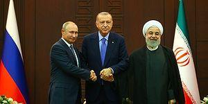 Erdoğan, Putin ve Ruhani'den Üçlü Suriye Zirvesi: 'Suriyeli Mültecilerin Gönüllü Geri Dönüşü İçin Çalışmak İstiyoruz'