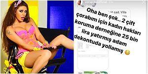 Ebru Polat Bir Çift Çorabı İçin 25 Bin Lira Bağış Yapan Hayranını İfşa Etti, Komik Tepkiler Gecikmedi!