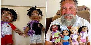 Vitiligo Hastası Çocuklara Öz Güven Aşılamak Amacıyla Tığ ile Oyuncaklar Ören Düşünceli Yaşlı Adam