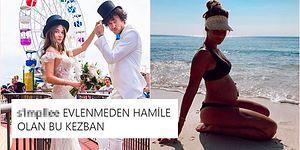 Altı Aylık Hamile Olan Müge Boz'un Sahil Pozu Sosyal Medyada 'Kendini Bilmez' Yorumların Hedefi Hâline Geldi