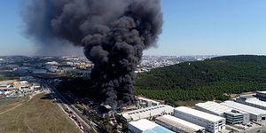 Tuzla'da Bir Fabrikada Yangın Çıktı: Patlamaların Yaşandığı Fabrikada Yaralılar Var