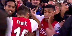 Gol Sevinci Sırasında İlginç Anlar: Ajaxlı Futbolcu Önce Tokat Attı Sonra Öptü!