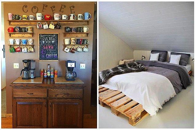 Kahve sehpasından yataklara, boş kalan köşelerde, anahtarlık köşesinde, sehpalarda... Evinizin her yerinde kullanabileceğiniz bir fikir önerisiyle geldik bugün.