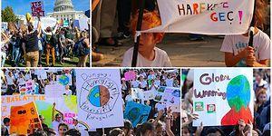 İklim Değişikliği İle Mücadele İçin Sokaktalar: Dünya Çapındaki 'Küresel İklim Grevi'nden Yansıyan Görüntüler