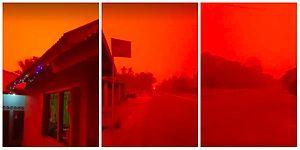 Burası Mars Değil! Endonezya'daki Orman Yangınları Gökyüzünü Kırmızıya Boyadı