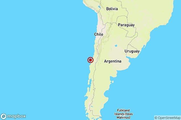 Önceki yıllarda da şiddetli depremler yaşayan Şili'de dün 6.8 şiddetinde gerçekleşen deprem, sahil şeridini salladı.