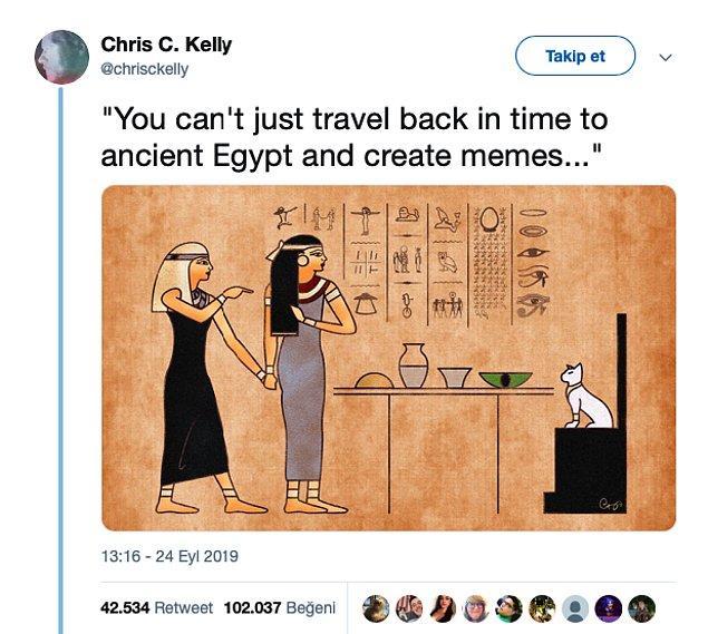 Sonradan anlaşıldı ki bu hiyerogliflerin yaratıcısı Chris. C. Kelly isminde bir adammış, zaten bu kadar benzerliğin başka bir açıklaması olamazdı 😂
