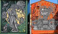 Böyle Detay Görmedi Bu Gözler! Sokaklar Adeta Boyut Atlamış Diyeceğiniz, Mitoloji Kitaplarından Fırlayan Duvar Resimleriyle: MonkeyBird
