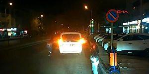 Polisler Trafikte Bir Sürücüyle Tartışırken Gözaltına Aldıkları Şüpheli Ekip Aracıyla Kaçtı!
