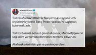 Fırat'ın Doğusuna Kara Harekâtına Başlayan Türk Silahlı Kuvvetleri'ne Sosyal Medyada Destek Mesajları Yağdı!